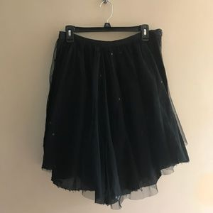 EUC Topshop Black Sequin and Tulle Skirt sz 10